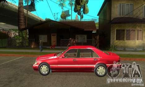 Mercedes-Benz S600 1999 для GTA San Andreas вид сзади слева