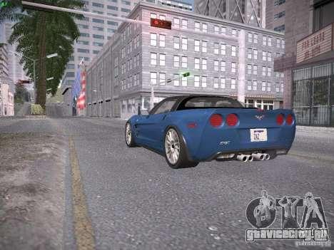 Chevrolet Corvette ZR1 для GTA San Andreas вид изнутри