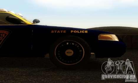 Ford Crown Victoria West Virginia Police для GTA San Andreas вид справа