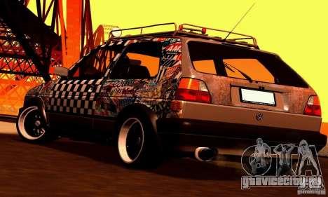 Volkswagen MK II GTI Rat Style Edition для GTA San Andreas вид изнутри