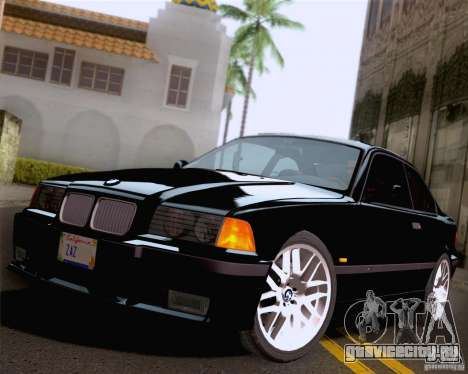 BMW M3 E36 New Wheels для GTA San Andreas вид снизу