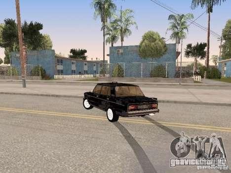 ВАЗ 2106 для GTA San Andreas вид снизу