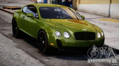 Bentley Continental SS 2010 Suitcase Croco [EPM] для GTA 4 вид сзади