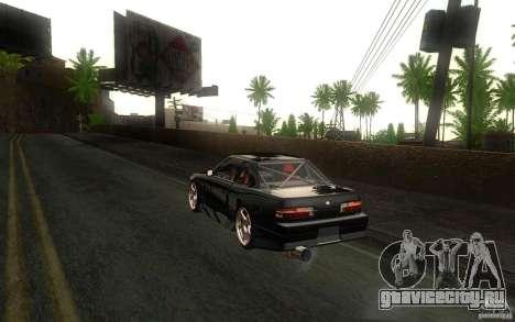 Nissan Silvia S13 Onevia для GTA San Andreas вид сзади