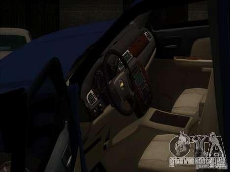 Chevrolet Silverado 1500 для GTA San Andreas вид изнутри