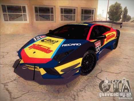 Lamborghini Reventon GT-R для GTA San Andreas вид изнутри