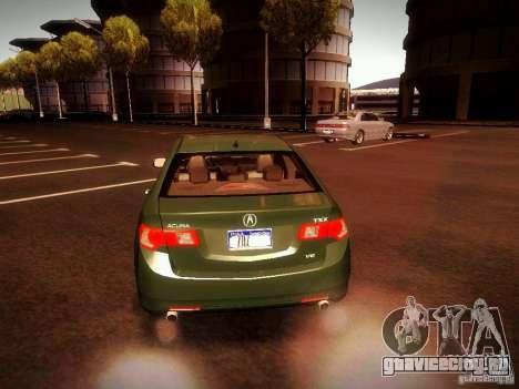 Acura TSX для GTA San Andreas вид сзади слева