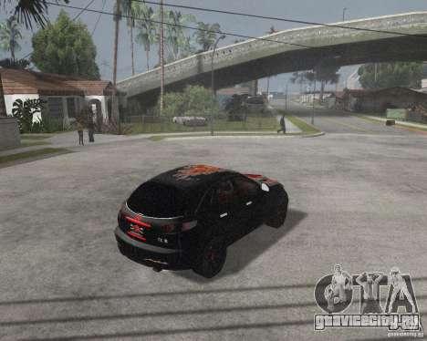 Infiniti FX35 для GTA San Andreas вид сзади слева