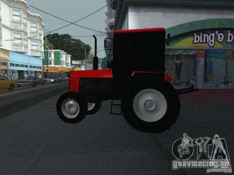 Трактор МТЗ 1025 для GTA San Andreas вид слева