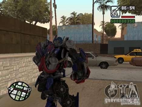 Optimus Prime для GTA San Andreas третий скриншот