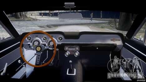 Shelby GT500 1967 для GTA 4 вид справа
