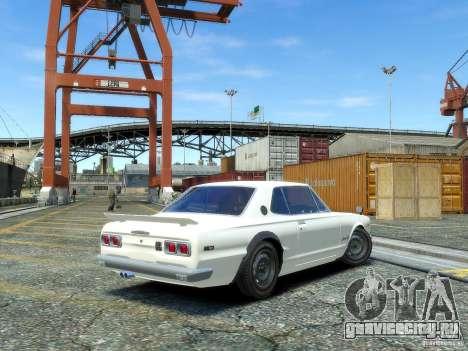 Nissan Skyline 2000 GTR для GTA 4 вид слева