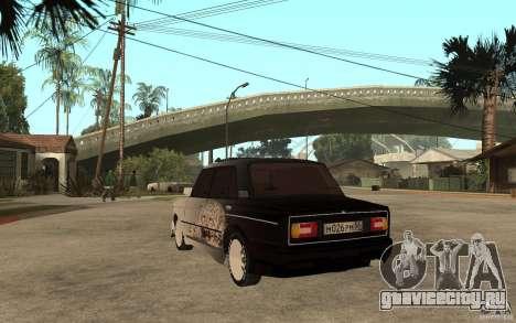 ВАЗ 2106 Hard Tuned для GTA San Andreas вид сзади слева