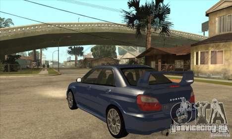 Subaru Impreza WRX STi - Stock для GTA San Andreas вид сзади слева
