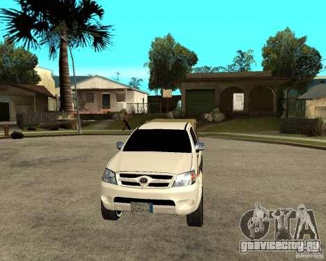Toyota Hilux 2010 для GTA San Andreas вид сзади
