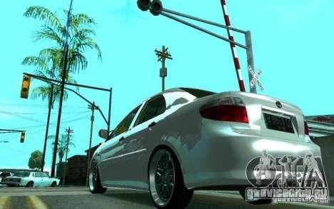 Toyota Vios для GTA San Andreas вид сзади слева