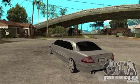 Mercedes-Benz CL65 Limusine для GTA San Andreas вид сзади слева
