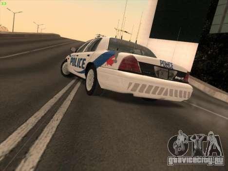Ford Crown Victoria Vancouver Police для GTA San Andreas вид слева