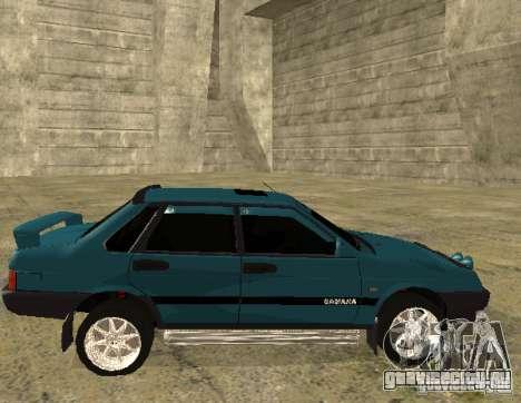 ВАЗ 21099 sparco tune для GTA San Andreas вид сзади