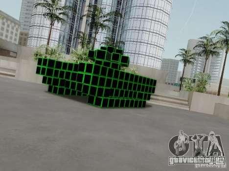 Pixel Tank для GTA San Andreas вид сзади слева