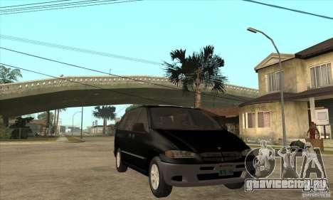 Dodge Caravan 1996 для GTA San Andreas вид сзади