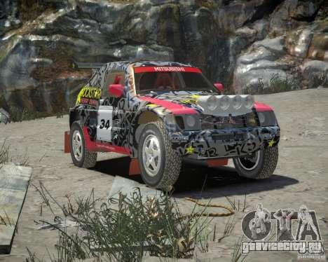 Mitsubishi Pajero Proto Dakar EK86 винил 1 для GTA 4 вид изнутри