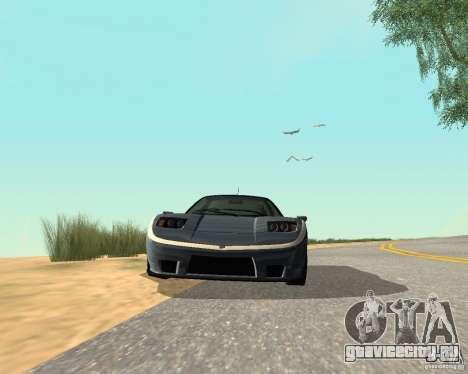 Сoquette из GTA 4 для GTA San Andreas вид сзади