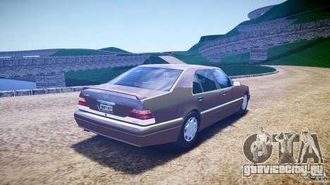 Mercedes Benz SL600 W140 98 performance shafter для GTA 4 вид сбоку