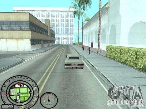 Спидометр с датчиком топлива для GTA San Andreas третий скриншот