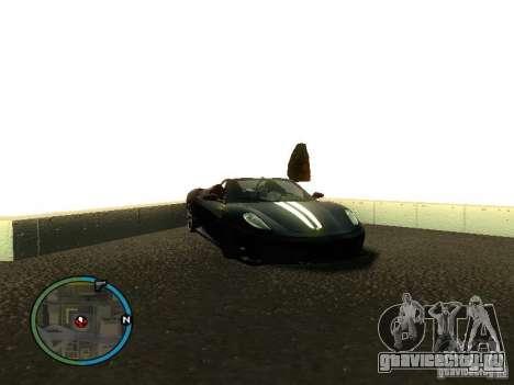 Ferrari F430 Scuderia M16 2008 для GTA San Andreas вид сверху