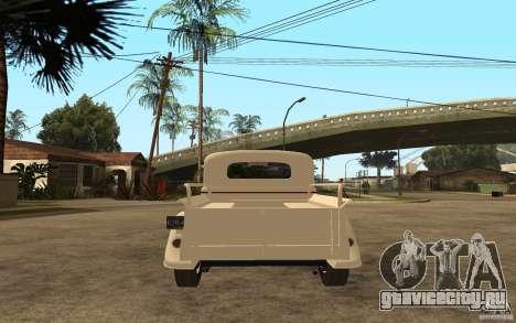 ГАЗ М415 для GTA San Andreas вид сзади слева