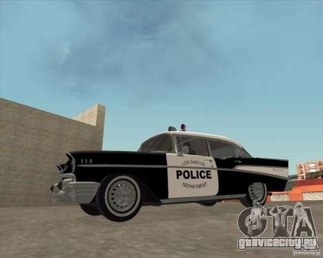 Chevrolet BelAir Police 1957 для GTA San Andreas вид справа