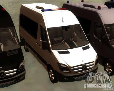 Mercedes-Benz Sprinter 311CDi для GTA San Andreas вид сбоку
