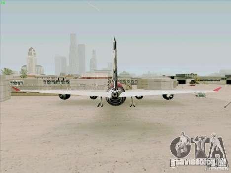 Airbus A-340-600 Formula 1 для GTA San Andreas вид сзади слева