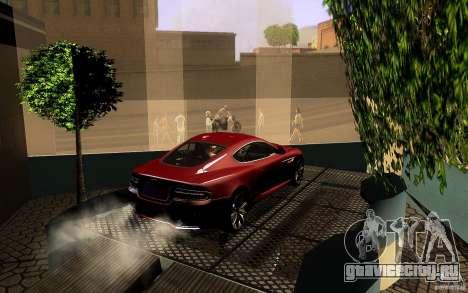 Aston Martin Virage V1.0 для GTA San Andreas вид снизу