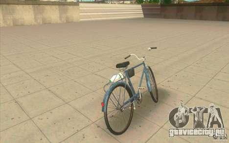 Велосипед Урал - Грязная версия для GTA San Andreas вид сзади слева