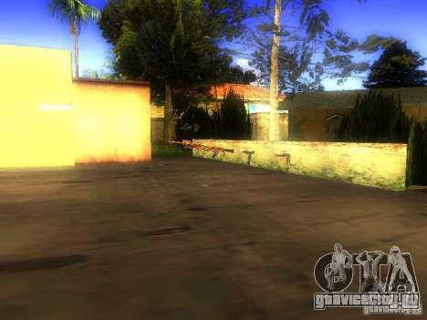 Оружие на Грув Стрит для GTA San Andreas шестой скриншот