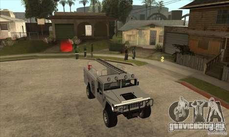 Hummer H1 Utility Truck для GTA San Andreas вид сзади