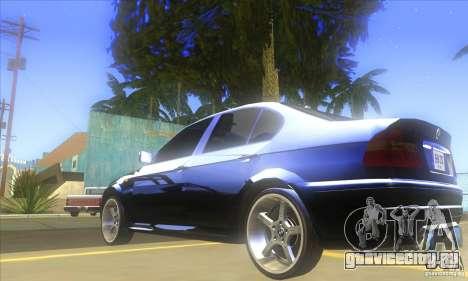 BMW 325i E46 v2.0 для GTA San Andreas вид сзади