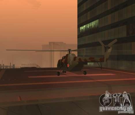 МИ-17 Военный для GTA San Andreas вид справа