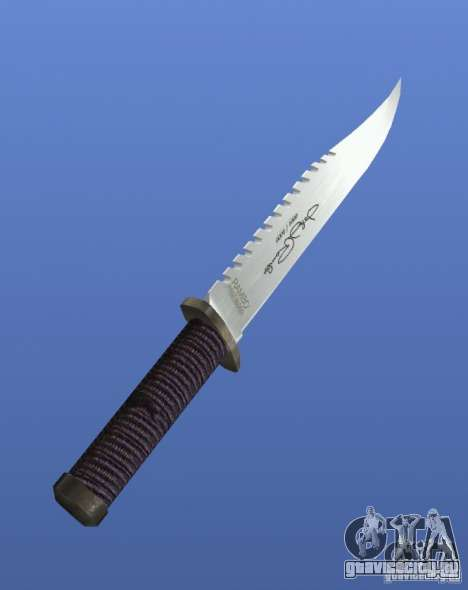 Rambo Knife с подписью для GTA 4 второй скриншот