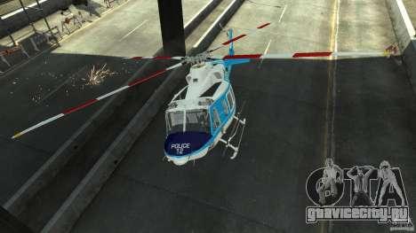NYPD Bell 412 EP для GTA 4 вид изнутри