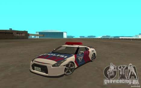 Nissan GT-R R35 Indonesia Police для GTA San Andreas