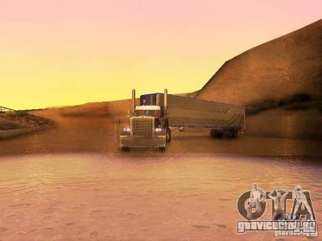 Truck Optimus Prime v2.0 для GTA San Andreas вид изнутри
