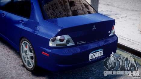 Mitsubishi Lancer Evolution VIII для GTA 4 вид снизу