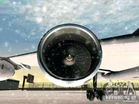 Airbus A-340-600 для GTA San Andreas вид сверху