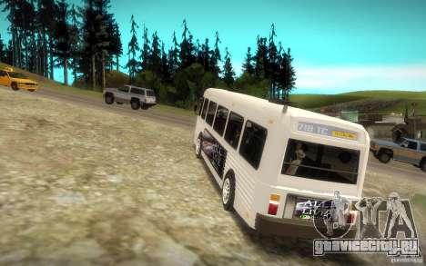 NFS Undercover Bus для GTA San Andreas вид сзади слева