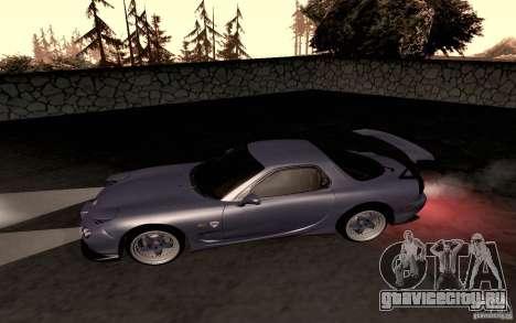 Mazda RX-7 Hellalush для GTA San Andreas вид сзади слева