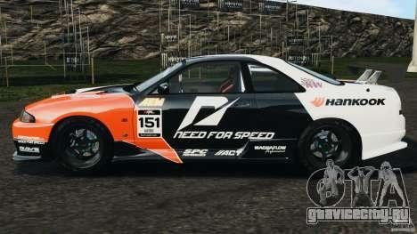 Nissan Skyline GT-R (R33) v1.0 для GTA 4 вид слева