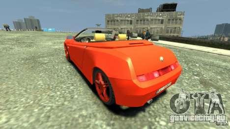 Alfa Romeo GTV Spider для GTA 4 вид сзади слева